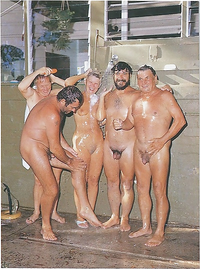 Vintage beach nudist flashing pussies in public - part 3647