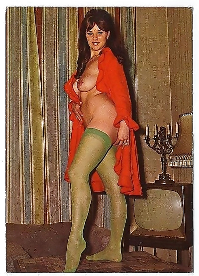 Classic color tints chicks enjoy posing in the seventies - part 1534